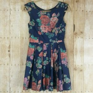 American Rag Blue Floral Sleeveless Dress Sz. S